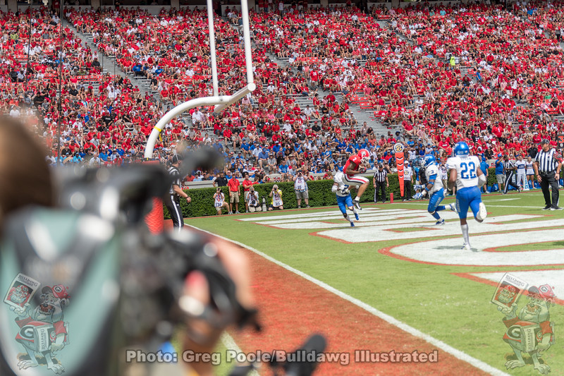 Jason Stanley (2) catches his first TD pass