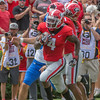 Mecole Hardman (4) is on his way to the endzone
