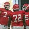 Ben Cleveland (74), Netori Johnson (72) and Trey Hill (55)