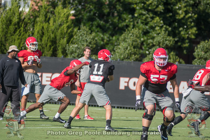 Jake Fromm (11) to James Cook (6)