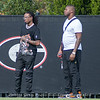 Quavo (L) attends UGA practice on Tuesday