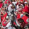 Mecole Hardman (4) hoisted by Soloman Kindley (66)