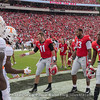 Jake Fromm (11), Jonathan Ledbetter (13) and J.R. Reed (20) - Georgia's Captains