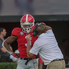 Kirby Smart explains the valus of mistake-free football to  Tyson Campbell (3)