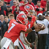 D'Andre Swift (7) and Justin Fields (1)