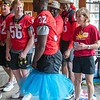 Monty Rice attempts to don a tutu
