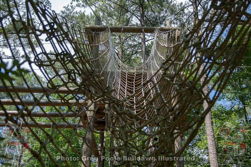 Cargo net at ropes course
