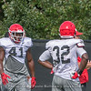 Channing Tindall (41) and Monty Rice (32)