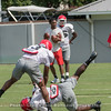 Tyson Campbell (3) gets away from a cut block