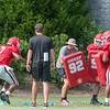 D'Andre Swift (7) in ball security drill