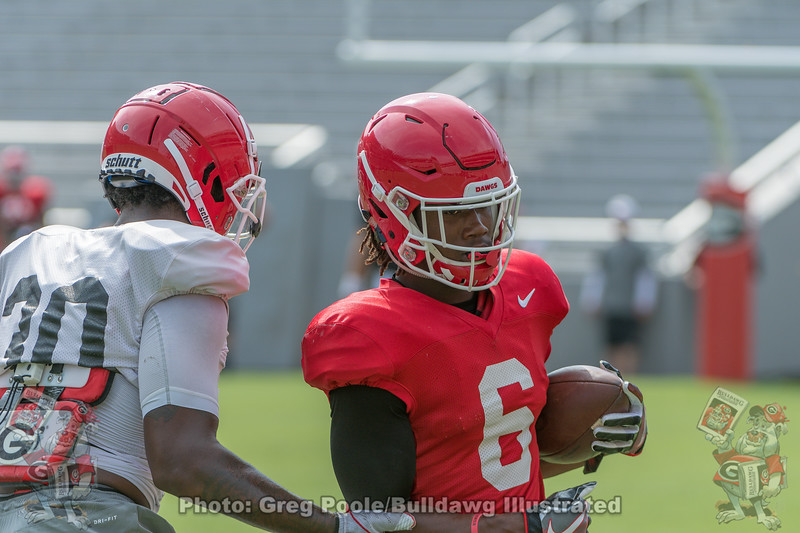 Tae Crowder (30) and James Cook (6)