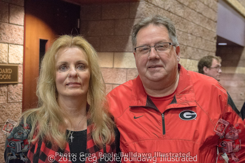 Sherry and Jim Vandiver (Hartwell, GA) - Jim's dad played for UGA in the 1930's - Anderson Area Touchdown Club Annual Awards Banquet - February 28, 2018