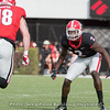 Richard LeCounte (2) has his eyes locked on to Isaac Nauta (18)