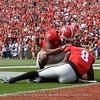 Mecole Hardman checks on Riley Ridley