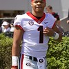 Justin Fields  - G-Day 2018 - Dawg Walk - April 21, 2018