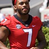 D'Andre Swift  - G-Day 2018 - Dawg Walk - April 21, 2018
