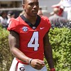 Mecole Hardman  - G-Day 2018 - Dawg Walk - April 21, 2018