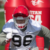 DaQuan Hawkins-Muckle - Spring Practice Day One - March 20, 2018