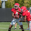 Mecole Hardman (4) and D'Andre Swift (7)