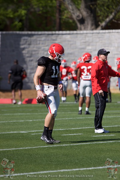 Jake Fromm  - Spring Practice Day 11 - April 12, 2018