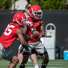 Mecole Hardman (4) and Brian Herrien (35)
