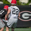 Jake Fromm (11) and Nate McBride (22)