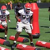 Devonte Wyatt & Chris Barnes  - Spring Practice Day 14 - April 19, 2018