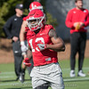 Elijah Holyfield - 2018 Spring Practice - Day 2 - March 22, 2018