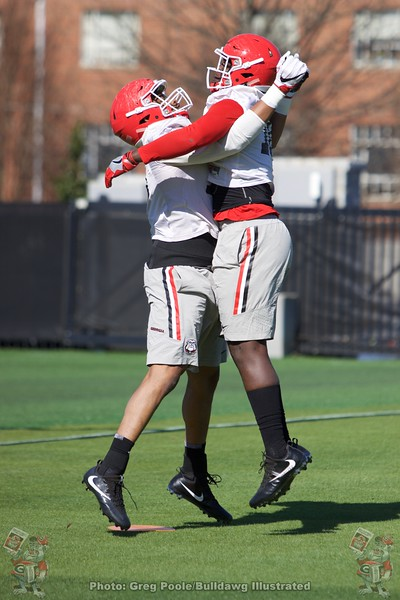 Malik Herring  - UGA Spring Practice Day 2 - March 22, 2018