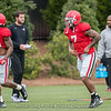 Brain Herrien (35) and Zamir White  - UGA Spring Practice Day 2 - March 24, 2018