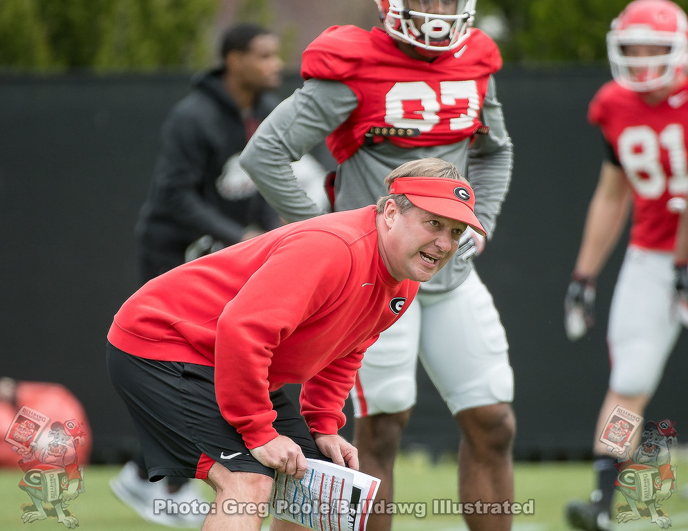 Kirby Smart  - UGA Spring Practice Day 3 - March 24, 2018