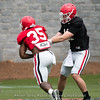Brian Herrien and Jake Fromm  - UGA Spring Practice Day 2 - March 24, 2018