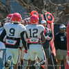 Jeremiah Holloman (9) and Tray Bishop (12)  - 2018 Spring Practice Day 6 - March 31, 2018