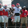 Jarvis Wilson (19),  Juwan Taylor (44) and  Brenton Cox (1)  - 2018 Spring Practice Day 6 - March 31, 2018