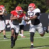 Mecole Hardman and Jonathan Ledbetter  - Spring Practice Day 7 - April 3, 2018