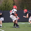 Jake Fromm hands off  - Spring Practice Day 7 - April 3, 2018