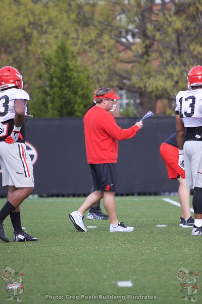 Kirby Smart  - Spring Practice Day 7 - April 3, 2018