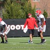 Kirby Smart and Natrez Patrick  - Spring Practice Day 7 - April 3, 2018
