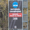 UGA Track & Field has there national championship banner up  - Spring practice day 9 - April 5, 2018