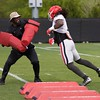 Keyon Brown  - UGA Spring Practice Day 8 - April 5, 2018