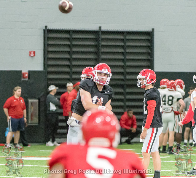 Jake Fromm to Terry Godwin  - 2018 UGA Spring Practice - April 07, 2018