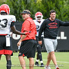 Mark Webb (23) and Kirby Smart