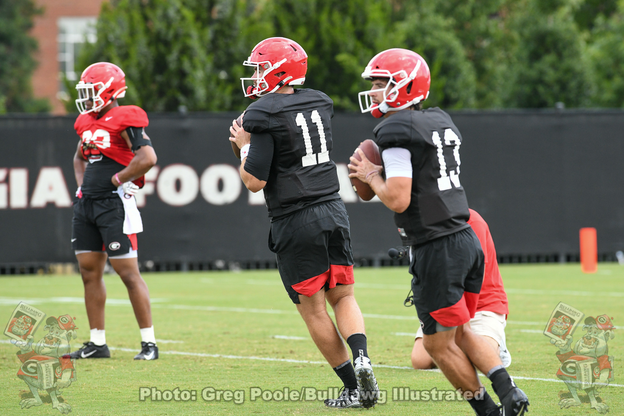 Jake Fromm (11) and Stetson Bennett (13)