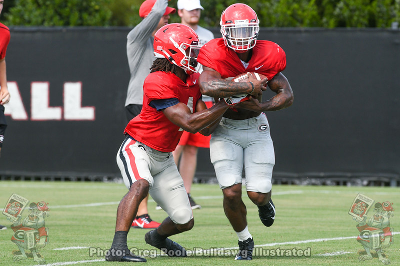 Kenny McIntosh (6) and Brian Herrien (35)