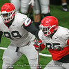Jordan Davis (99) and Devonte Wyatt (95)
