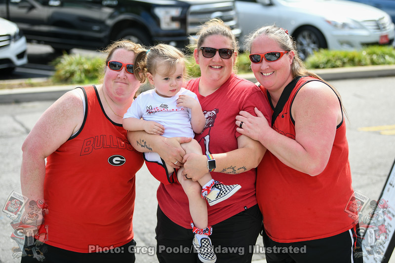 These ladies arrived at Stegeman at 3:30 AM to be assured of getting a ticket for a photo with UGA