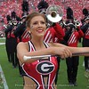 Redcoat Band Majorette and Feature Twirler