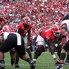 Jake Fromm (11), D'Andre Swift (7), and Trey Hill (55)