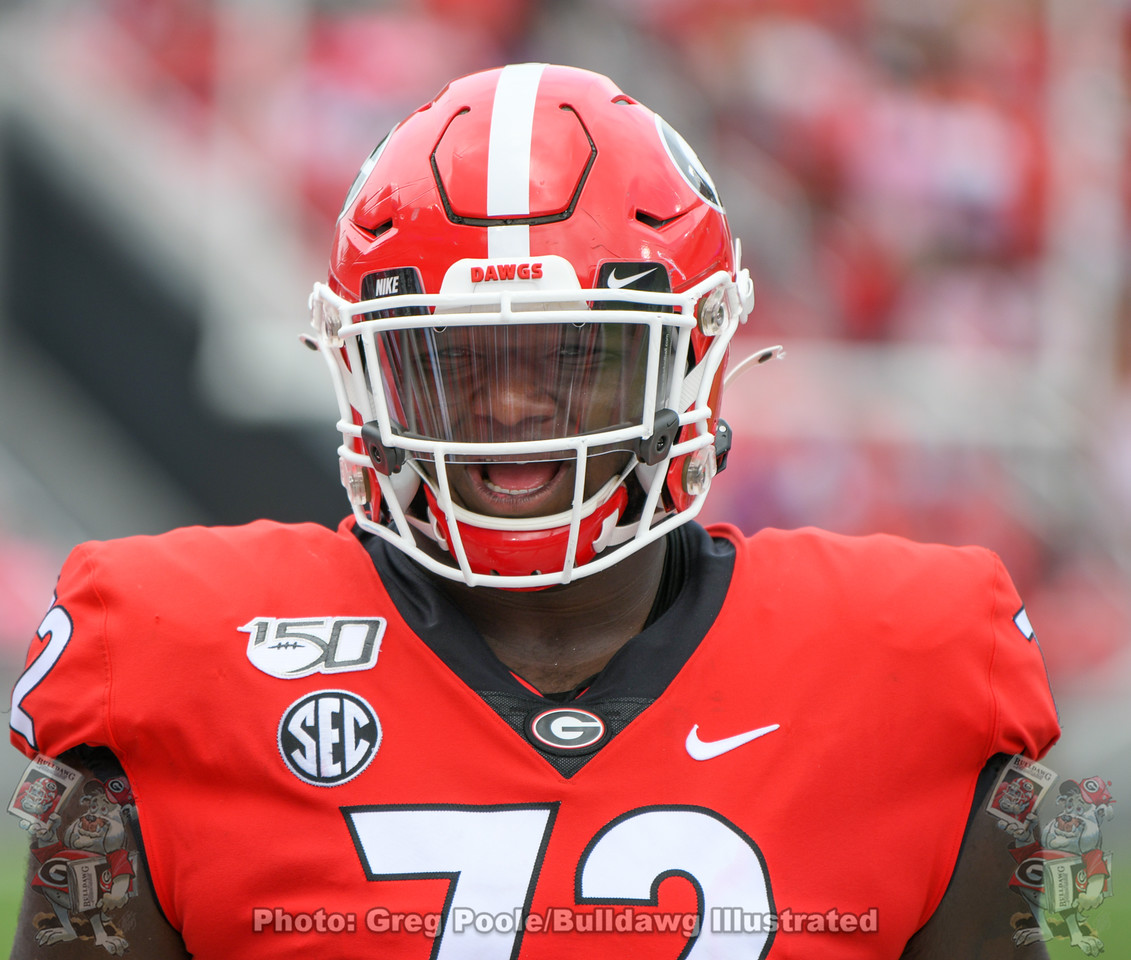 UGA d-lineman Netori Johnson (72)