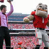 Hairy Dawg getting his groove on in the second half